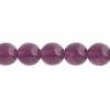 Czech Druk Beads 8mm Transparent Amethyst